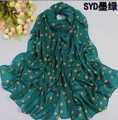 160*70CM  Wholesale new spring and autumn dot pattern scarf thin long chiffon scarves shawl