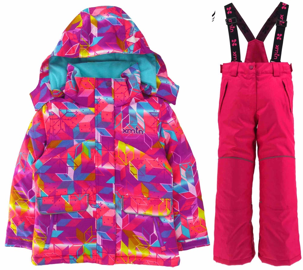 XMT warm thick boys and girls ski suits windproof waterproof outdoor ski suit winter warm suit outdoor clothes winter clothes children autumn and winter warm clothes boys and girls thick cashmere sweaters