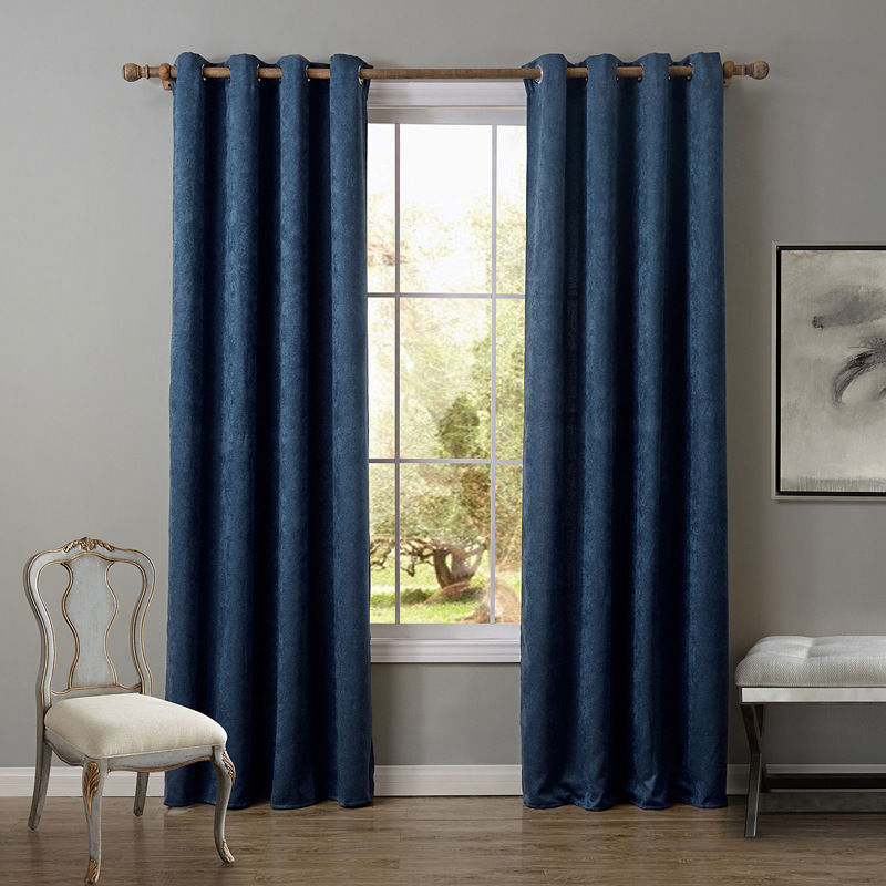 Sunnyrain 1 piece chenille curtains for living room blackout curtain for bedroom drapes window for Curtains for a small living room
