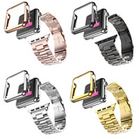 5 Colors 316L Stainless Steel Strap For Apple Watch Band Gold Plating Cover Case For Series