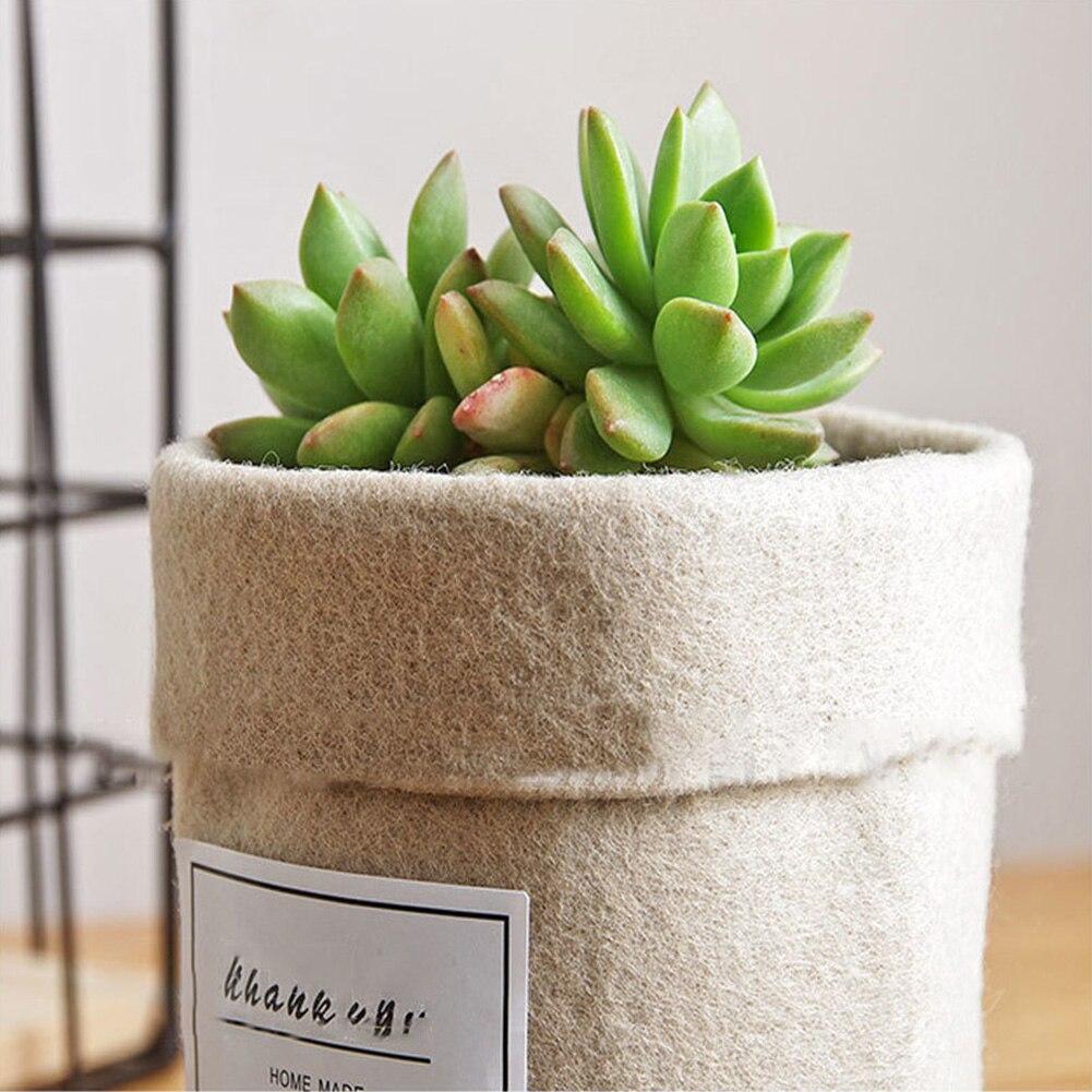 HTB1YEi4XLvsK1Rjy0Fixh6wtXXaS - Plant Grow Bag New Home Decorations Desktop Flower Basket Fleshy Pot