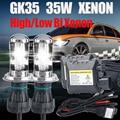 12V35W slim ballast HID kit bi xenon H4 hid Hi/Lo bulb H13 9004 9007 6000K 8000K 4300K 5000K h4 35W hid bi xenon bulb light kit