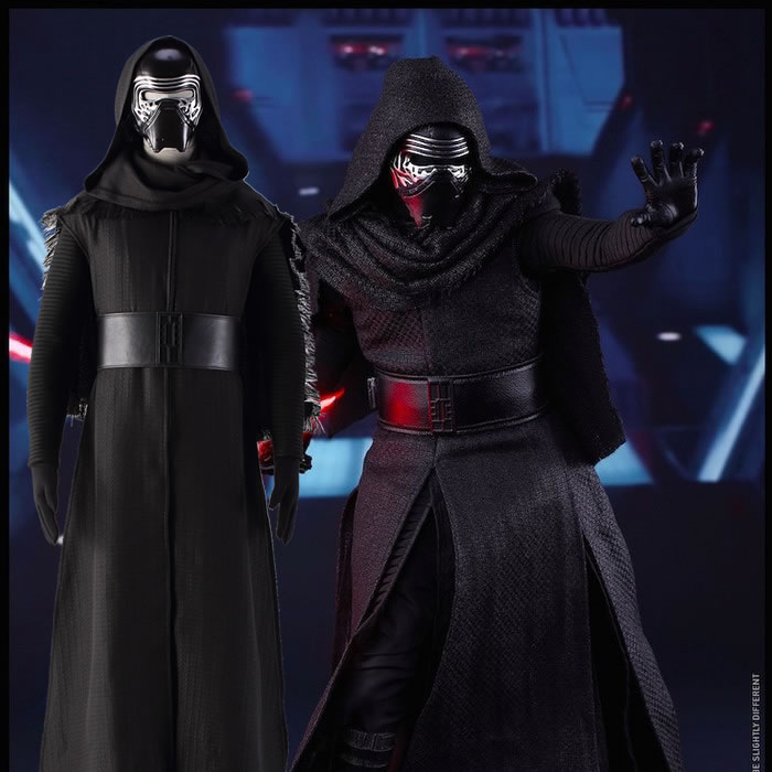 Special Adult Star Wars The Force Awakens  Kylo Ren Cosplay Costume Black For Men With Mask