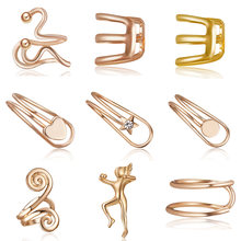 1Pcs Ear Clip Temperament Simple Unisex Fashion Jewelry Cartilage Punk Rock Cuff 3 Colors Wrap No piercing-Clip On Earring(China)