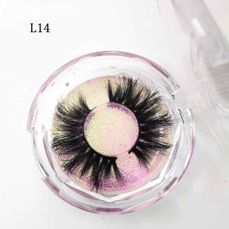 158012effcd ... Luxury 25mm long mink eyelashes Siberian Strips False 3D lashes natural  thick lashes diamond box eyelashes ...