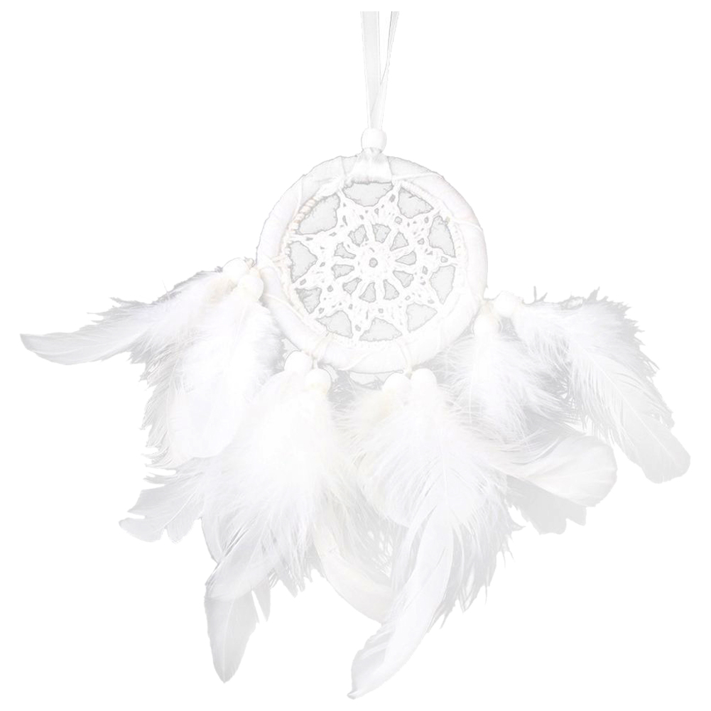 HOT SALE White Feather Dream Catcher Bead Hanging Decor Ornament for Car or Home decor (#3) ...