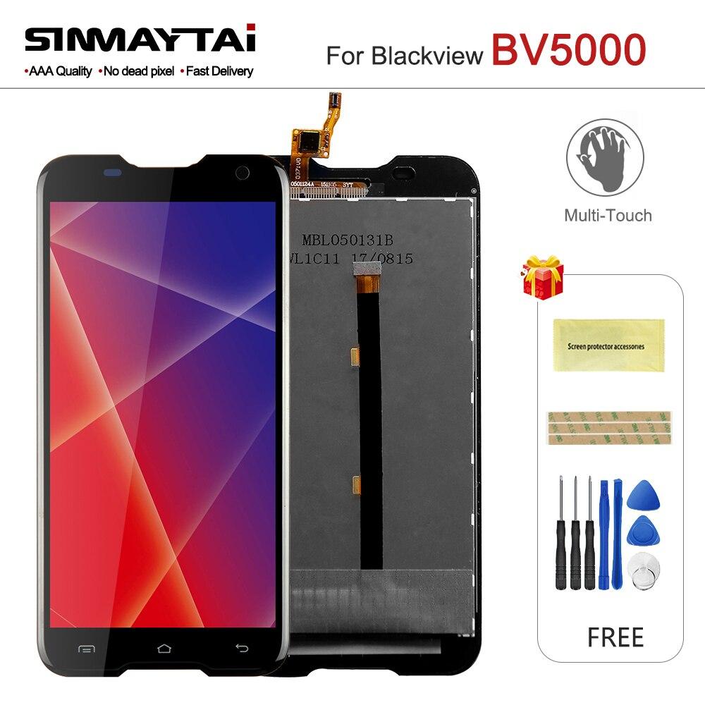 Sinmaytai Pour Blackview BV5000 LCD Display + Écran Tactile En Verre Digitizer Assemblée Complet 5.0 ''pour BV 5000 Écran + livraison cadeau
