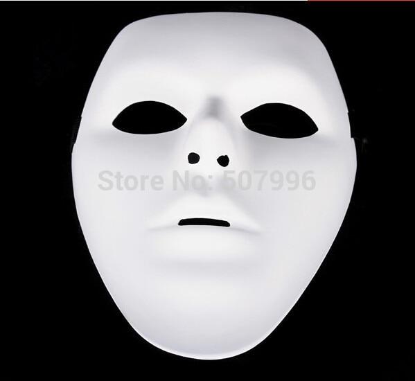 couleurs délicates grand choix de 2019 obtenir de nouveaux € 11.18 6% de réduction|5 pcs/lot Jabbawockeez masque blanc hip hop masque  hommes masque rue étape danse Halloween Costume balle mascarade fête D ...