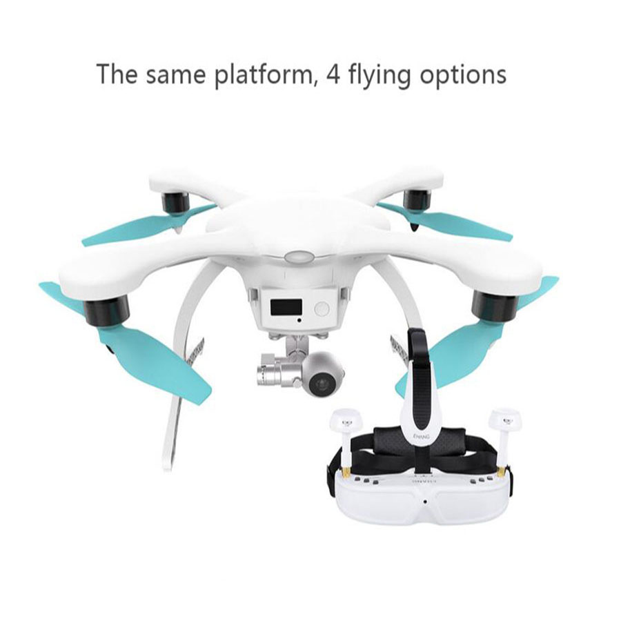 Original EHANG GHOST 2.0 Aerial Intelligent RC Drone FPV Quadcopter with 3-Axis Gimbal G-Box Controlled by Smartphone