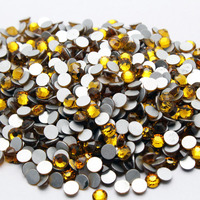 SS3 1.4mm Topaz Nail Art Rhinestones Crystals non hotfix stone 1440pcs/bag Gule glass strass glitters for DIY Nail Decoration