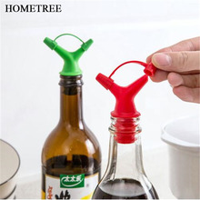 HOMETREE 2 Pcs Quality Silicone Wine Pourer Double Holes Soy Sauce Vinegar Oil Down Device Stopper Kitchen Cooking Tools H663
