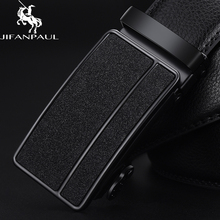 JIFANPAUL mens genuine leather black automatic buckle belt trend youth personality simple business beautiful