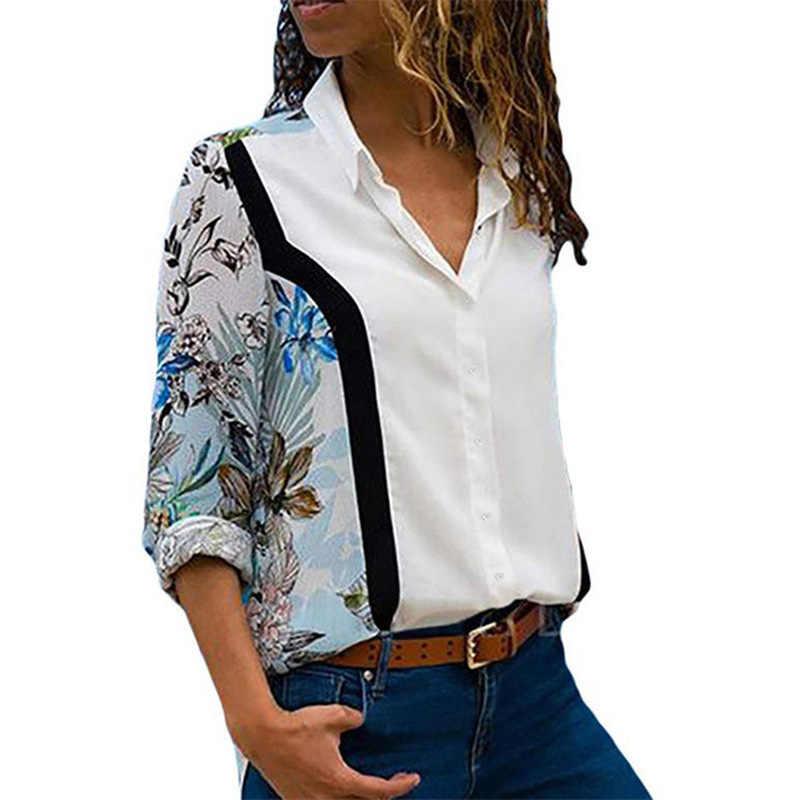 เสื้อใหม่ผู้หญิง Blusones De Mujer Largos Disney เสื้อเสื้อสำนักงานเสื้อชีฟองเสื้อ PLUS ขนาด