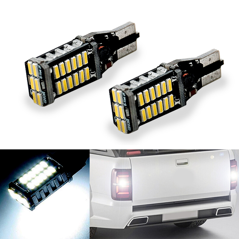 BOAOSI 2x Canbus T15 W16W 912 921 LED Bulb 4014 SMD Car Back Up Reverse Lights White For VW Tiguan Sharan Scirocco Skoda Superb