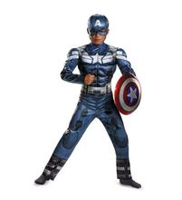 high quality Marvel Avengers Age of Ultron Captain America Cosplay Costume Steve Rogers Child Kids Boy Superhero Costume dc comics marvel avengers age of ultron scarlet witch cosplay costume custom made for halloween christmas cosplaylove