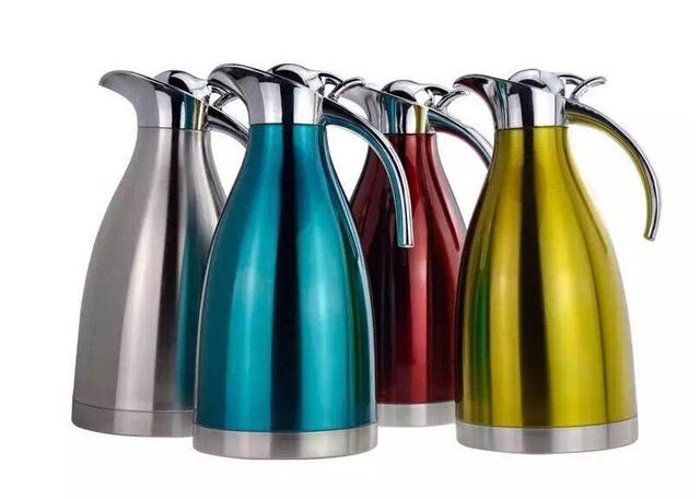 2 L  4 color Thickening big capacity stainless steel kettle pot water bottle