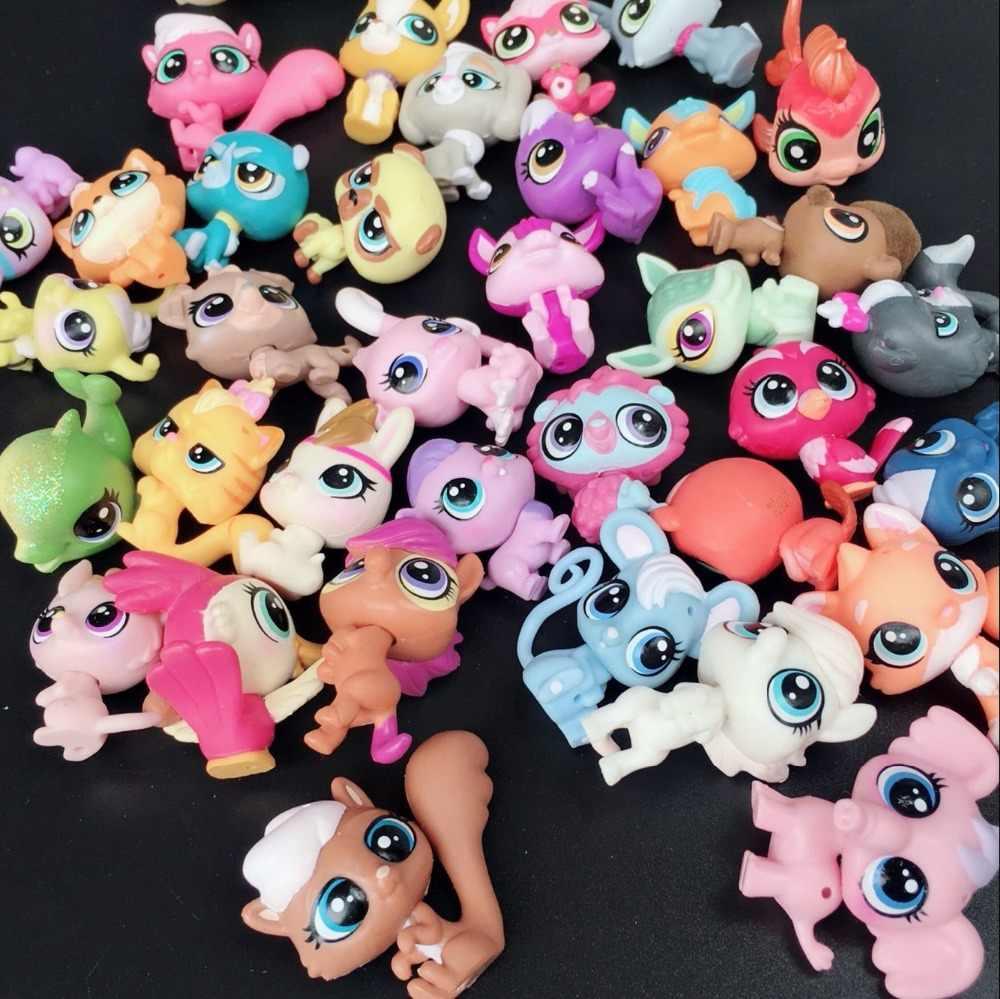 3.5 centímetros 20 pçs/lote Todos Diferentes Bonito Claro Pet Shop LPS Pet Shop Figura de Ação Brinquedos Vêm com Saco Do Opp FIGURA