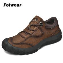 Fotwear Man Leather casual shoes Premium full-grain leather and sporty Roomy toe High-traction outsoles Hiking-style