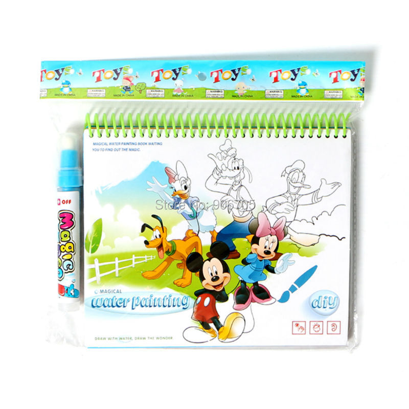 Magic Cartoon Water Drawing Book With 1 Magic Pen Intimate