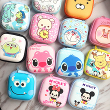 Cartoon Zipper Hard Headphone Case Portable Earbuds Pouch box Earphone Storage Bag Protective USB Cable Organizer For Airpods цена и фото