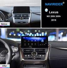 10,25 дюймов Дисплей NAVIRIDER Android 7,1 автомобилей радио Wi-Fi gps навигации головное устройство Сенсорный экран для Lexus NX 200 Т 300 h nx200 2018