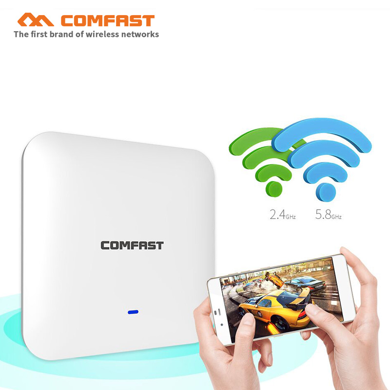 4pcs 2200M Gigabit AC Wifi Router 2.4G/5Ghz Dual-band Wifi Access Point AP POE Router Open Dd WRT Wireless Ceiling AP For Hotel