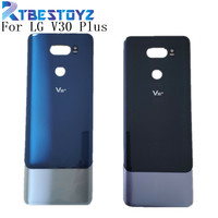 LG V30 Artı Arka Pil Kapağı Arka Kapı Paneli Konut Durumda Cam + Yapıştırıcı Sticker