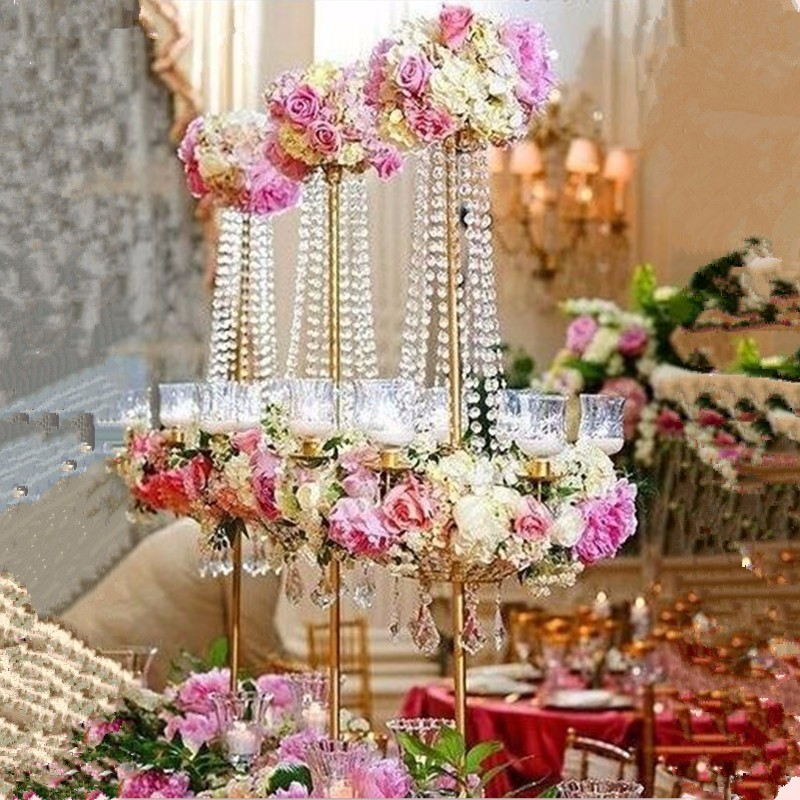 90cm H Wedding Crystal Table Centerpiece Chandelier Flower Stand Banquet Decoration Road Lead In Vases From Home Garden On Aliexpress Com Alibaba