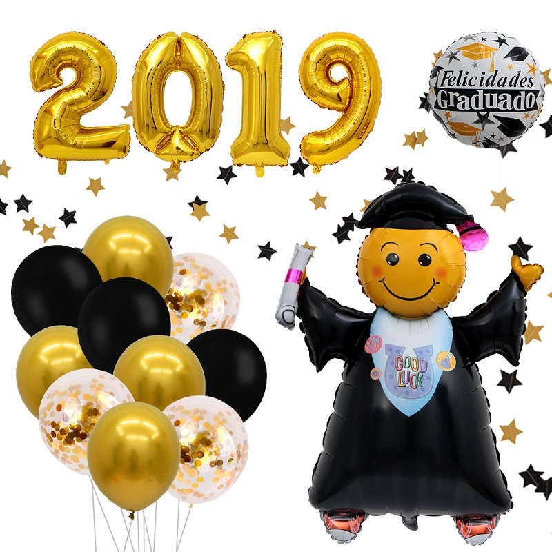 2019 Graduation Balloons Grad Globos Gift Back To School Party Decorations Bb