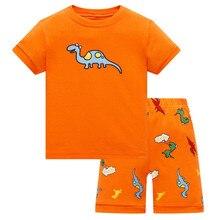 цены Hot Summer Kids Pajamas Baby Boys Clothing Cartoon Costume Short Sleeve Pijamas children Sleepwear Pajamas Sets
