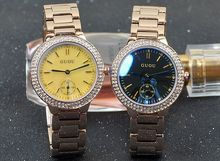 De Calidad superior HK Marca Impermeable Relojes de Cuarzo de Lujo de Las Mujeres Relojes de Oro Pulsera De Acero Inoxidable relojes de Pulsera de Regalo de Cristal