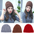 Korean adult winter hats  ladies fashion cashmere knitted hat wholesale and warm