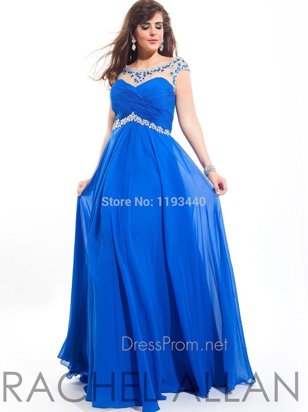 Elegant Beaded Scoop Empire Waist Plus Size Prom Dresses 2015 New ...