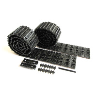 Mato King Tiger metal upgrade tracks parts for 1 16 Henglong 3888-1 3888A-1 German Kingtiger RC tank with spare link closed pins