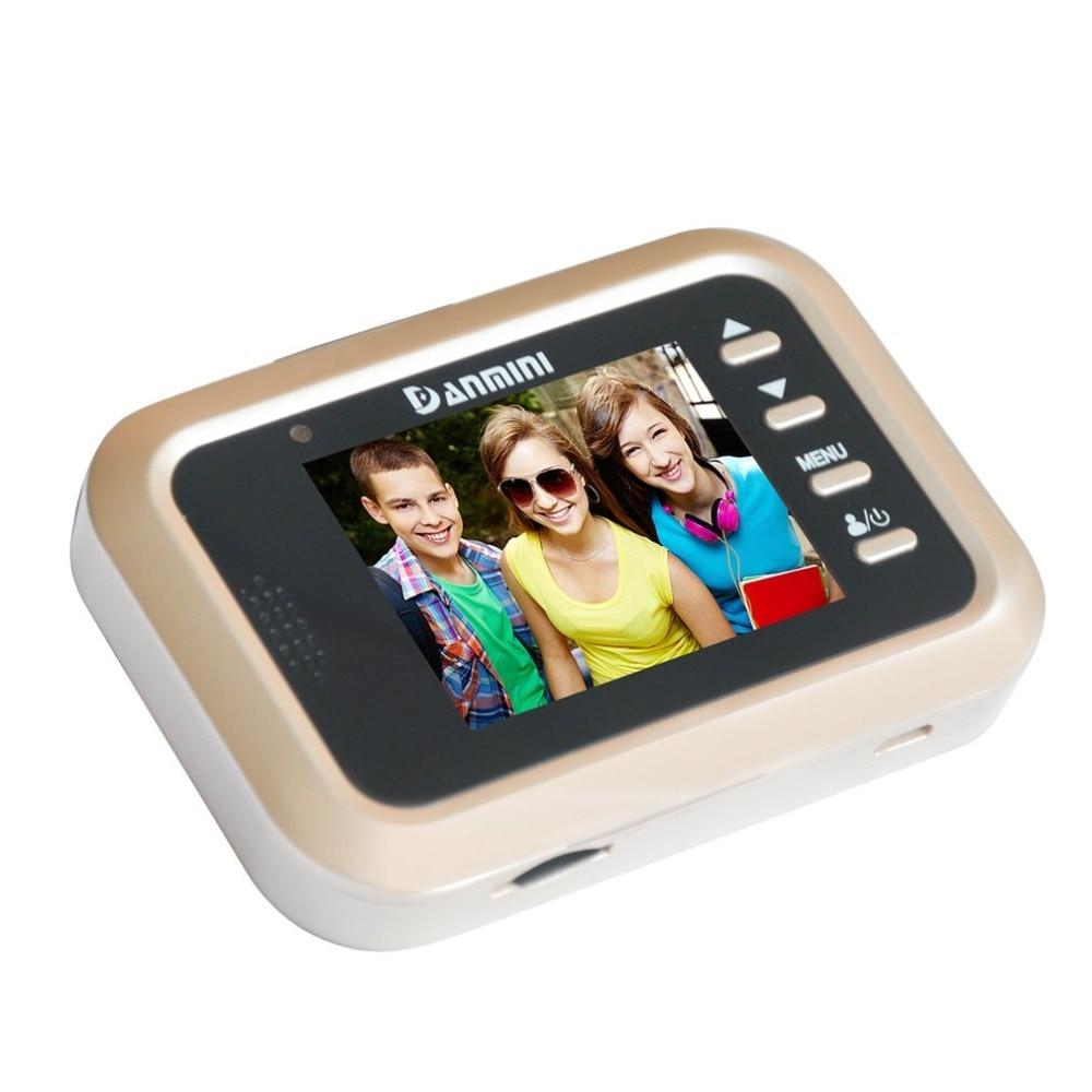 Livraison directe Q8 2.4 pouces TFT écran affichage maison intelligente sonnette de sécurité porte visionneuse PIR Mobile caméra de détection électronique