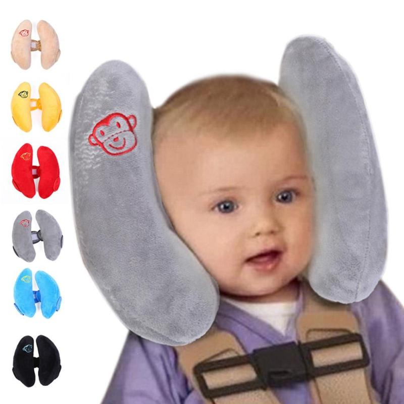 1 piece baby pillow car baby protection cervical spine pillow for outdoor and travel kids seat guard head cushion kids safety W4