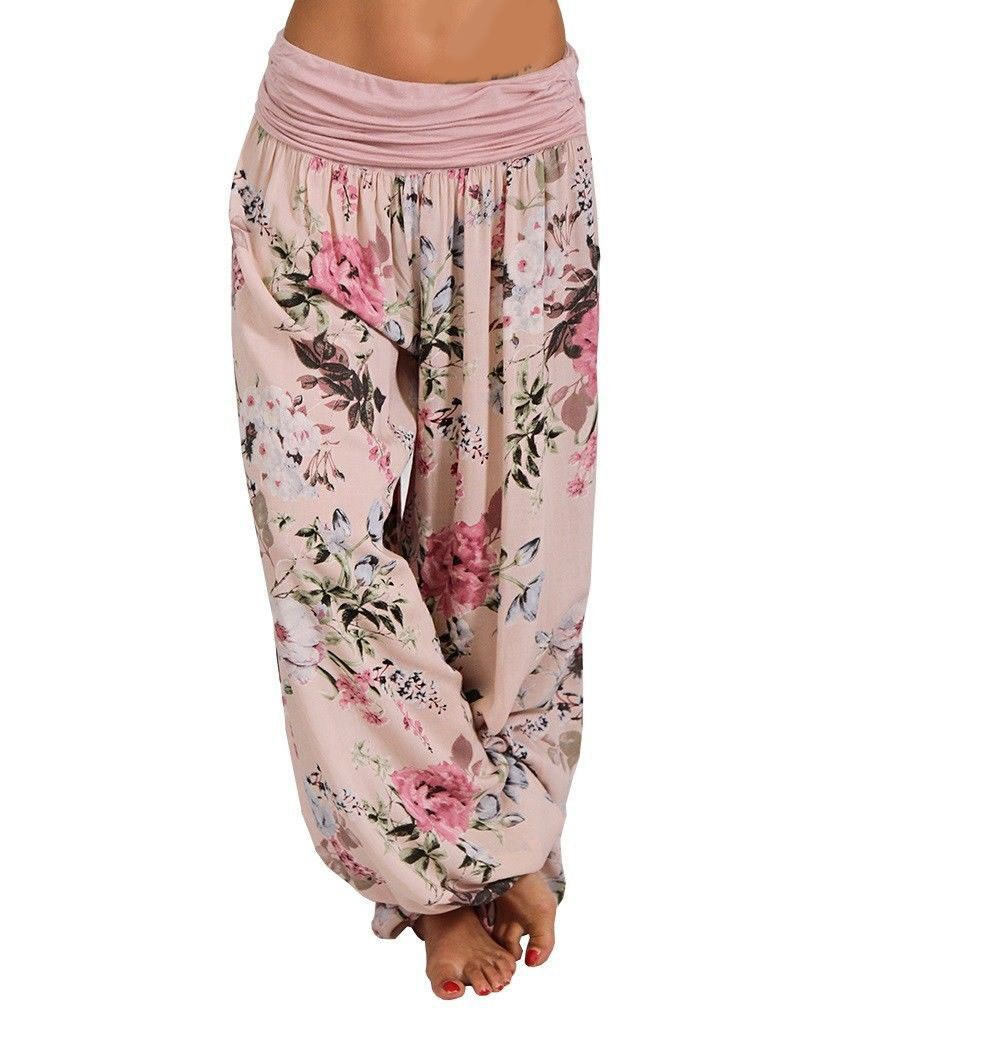 Fashion 8 Colors 2019 Summer Women Printed   Pants   Loose Boho   Wide     Leg     Pants   Casual Vintage Plus Size   Pants