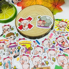 40 Pcs/lot Anime Cute pig Scrapbooking Stickers  Car Case Waterproof Laptop Bicycle Notebook Backpack waterproof Sticker