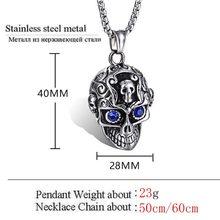 Skull Crystal Eye Necklaces Pendants