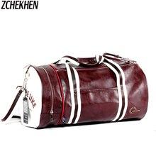Männer Weichem Leder barrel Reisetasche Mode Hohe Kapazität Tasche Für Männer Wasserdichte Schulter Gepäck Bolsa Deporte Seesack