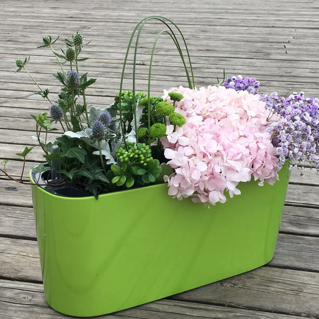 Cube lazy self - absorbent water visual creative personality paint plastic flower pot for home and garden & Cube lazy self absorbent water visual creative personality paint ...