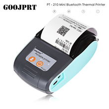 GOOJPRT PT-210 58mm Bluetooth Imprimante Thermique Portable Sans Fil Réception Machine Rechargeable Batterie 1500 mah Pour Android IOS(China)