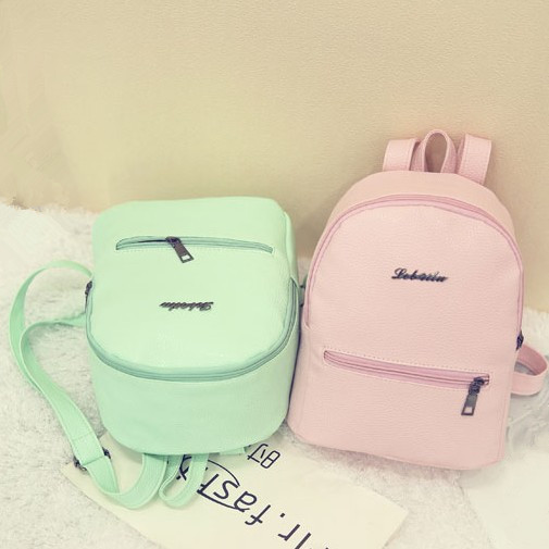 Mini shoulder women backpack PU korean style spring summer new collection casual preppy style small book