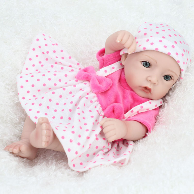 Reborn Baby Doll Hot Sale Toys Soft Slicone Reborn Baby Dolls cute Lifelike mini double wholesale Christmas Gift For baby