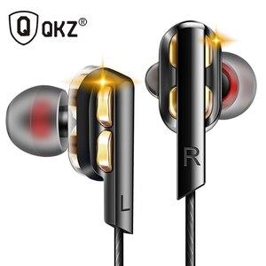Image 1 - QKZ AK4 In Ear Earphones Bass Ear HIFI Headset DJ Earphone Metal Stereo Earbuds with Microphone for Mobile Phone MP3 MP4 Xiaomi