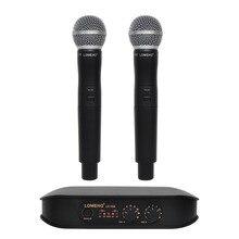 Lomeho LO-V06 2 Way Карманный УКВ Динамический каналы караоке вечерние беспроводной микрофон