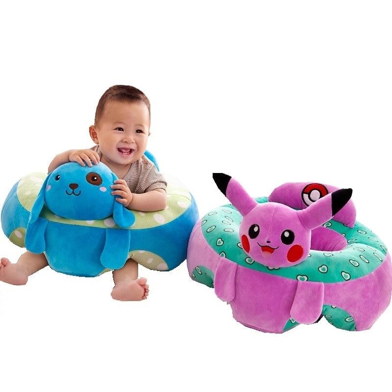 где купить Winter Warm Plush pikachu Children's chair Cute Baby Baby sitting chair Infant seat learn how to sit protective pillow plush toy по лучшей цене