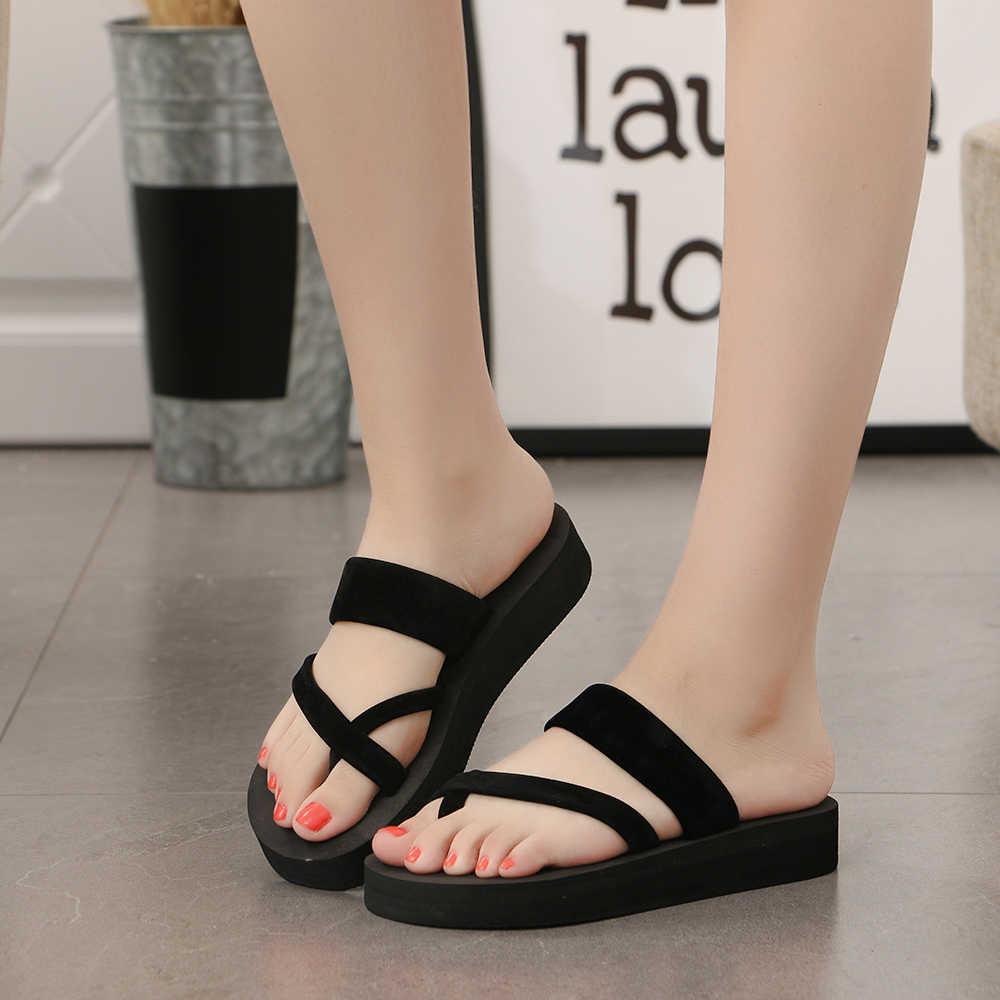 Apartamento confortável com sandálias de praia casual sandálias Casuais para as mulheres sapatos casa chinelos Home indoor chinelos de espuma das mulheres