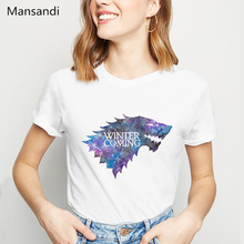 Watercolor gome of throne t shirt women clothes 2019 winter is coming graphic tees tshirt  harajuku tumblr tops tee
