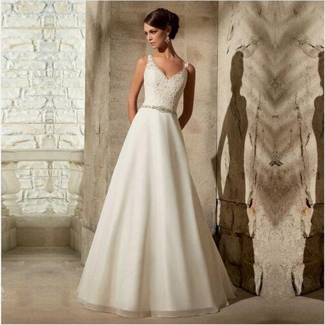 Vestido de noiva simples aliexpress